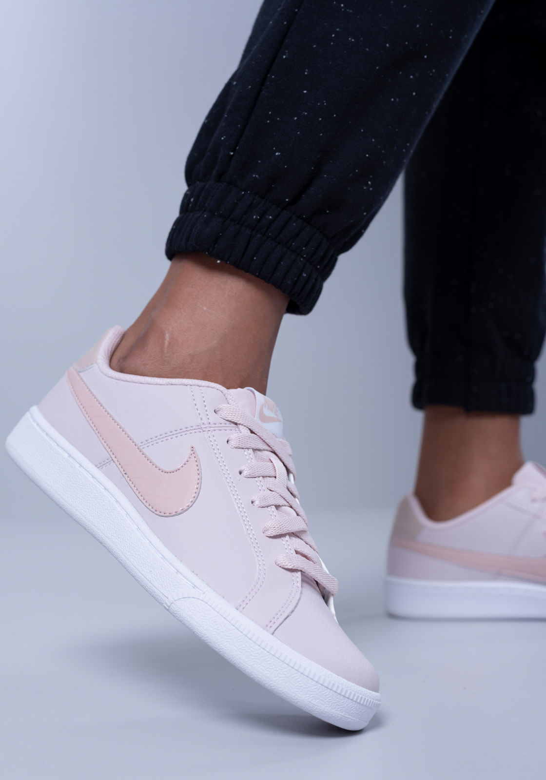 nike court royale branco e rosa