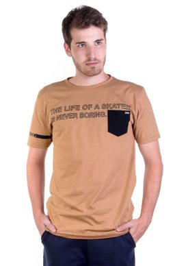 Camiseta-Alongada-Skater-Camel