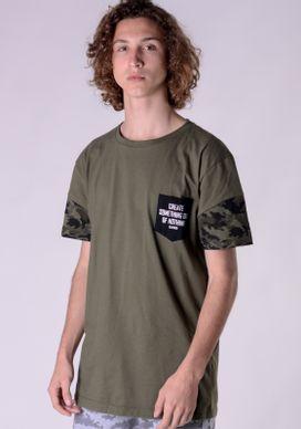 Camiseta-Alongada-Verde-Recorte-Camuflado