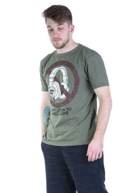 Camiseta-Verde-Fone-De-Ouvido