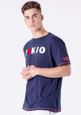 Camiseta-Tokio-Com-Sol-Flocado-Vermelho