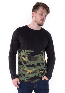 Camiseta-Manga-Longa-Barra-Camuflada-Preta