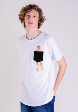 Camiseta-Branca-Com-Bolso---Girl-Skate