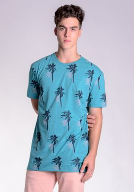 Camiseta-Fullprint-Mescla-Verde-Coqueiros