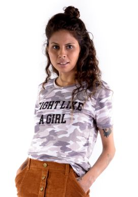 Camiseta-Camuflada-Fight-Like-a-Girl