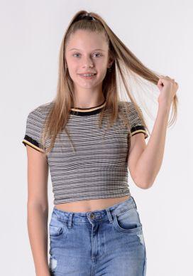 Camiseta-Cropped-Listrada-P-B-Gola-Amarela