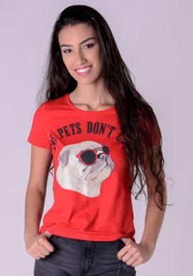 Blusa-Vermelha-Pug-Oculos-Poa