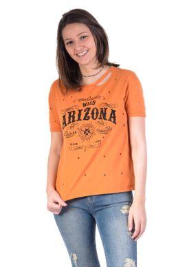 Blusa-T-shirt-Mostarda-Arizona-Traca