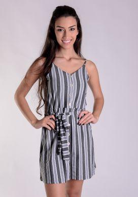 Vestido-Listras-Cinza-E-Botoes-Frontais