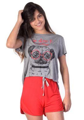 Pijama-Mescla-e-Vermelho-Pug-Oculos