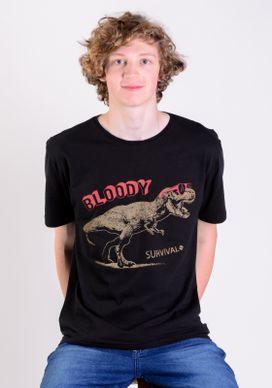 Camiseta-Preta-Dinossauro