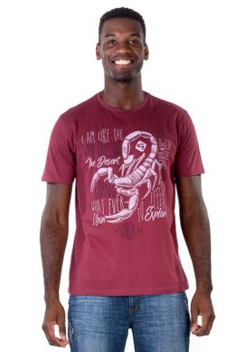 Camiseta-Escorpiao-Vinho