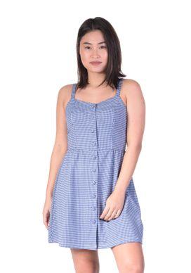 Vestido-Alca-Xadrez-Azul-Botoes-Forrados