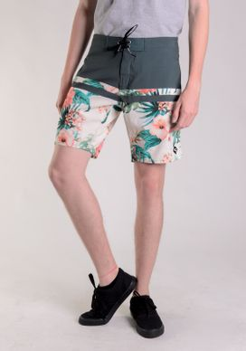 Bermuda-Banho-Curta-Verde---Floral-Em-Fundo-Off