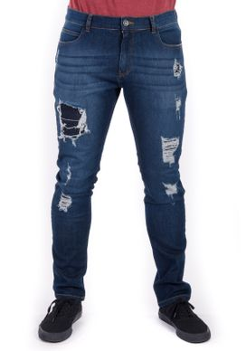 Calca-Skinny-BLue-Escuro-Detonados-Com-Patch