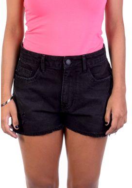Short-Jeans-Cintura-Alta-Black