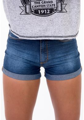 Short-Jeans-Cintura-Alta-Azul-Escuro