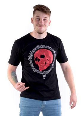 Camiseta-Red-Skull-Preta