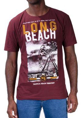 Camiseta-Long-Beach-Flocado-Vinho