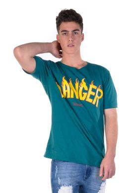 Camiseta-Verde-Danger-Amarelo