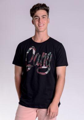 Camiseta-Preta-Gang-Camuflado