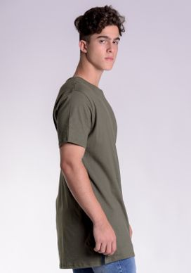Camiseta-Basica-Alongada-Verde-Oliva
