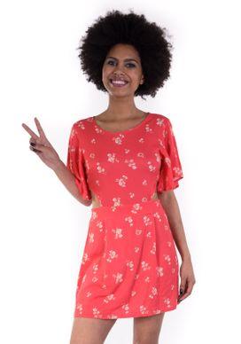 Vestido-Abertura-Lateral-Floral-Vermelho