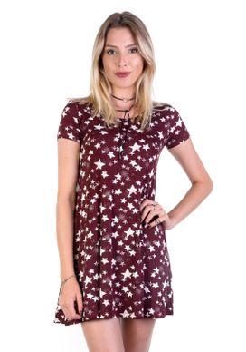 Vestido-Estrelas-Vinho