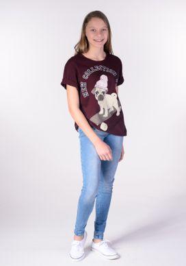 Camiseta-Ampla-Pug-Touca-E-Skate