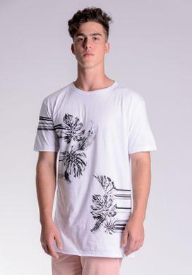 Camiseta-Long-Branca-Folhas-Esticadas