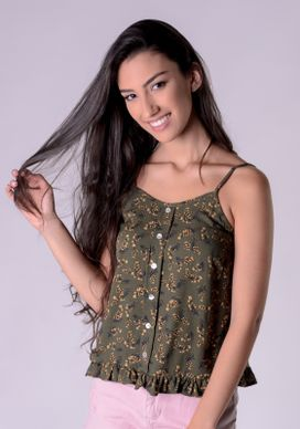 Blusa-Frente-Unica-Botoes-Floral-Verde
