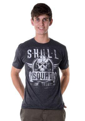 Camiseta-Skull-Quad-Mescla-Cinza