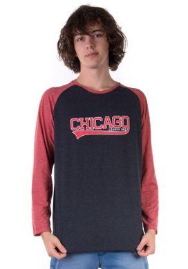 Camiseta-Manga-Longa-Raglan-Chicago-Chumbo-e-Vermelha