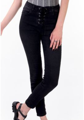 Calca-Jeans-Cigarrete-Cintura-Alta-Black-Jeans-Amarracao