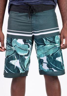 Bermuda-Banho-Floral-Verde