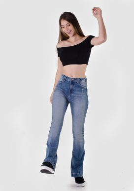 Calca-Flare-Jeans-Alta-Dirty-Puidos