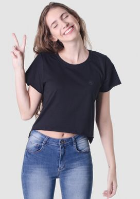 Blusa-Cropped-Preta-Basica-Logo-Peito-Preto
