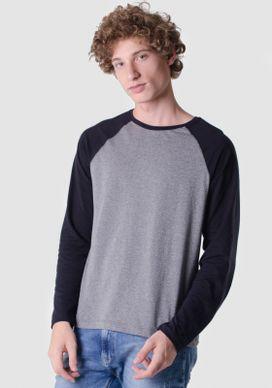 Camiseta-Mescla-Basica-Preta-Com-Mangas-Raglan