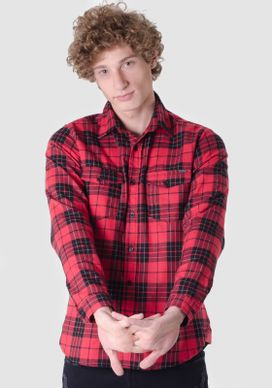 Camisa-Flanela-Xadrez-Tartan-Vermelho