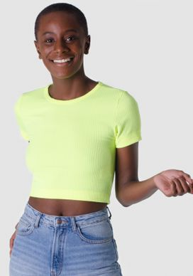 Blusa-Cropped-Amarelo-Neon