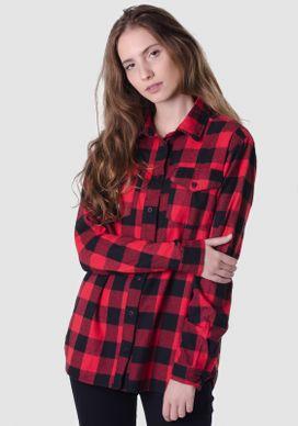 Camisa-Xadrez-Vermelha-E-Preta