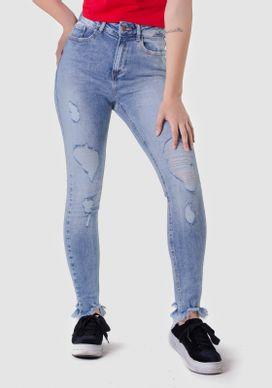 Calca-Jeans-Cigarrete-Cintura-Alta-Rasgos-Barra-Desfiada