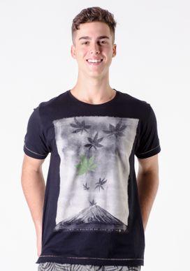 Camiseta-Preta-Monte-Fuji