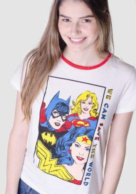 Camiseta-Manga-Curta-Mulher-Maravilha-Branca-vermelha