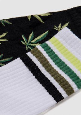 Kit-Meia-Cano-Alto-Branca-e-Preta-Weed