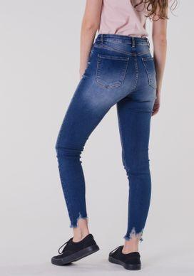 8ecc3518d Calça Jeans Skinny Rasgos Azul Escuro