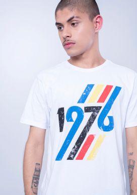 Camiseta-Manga-Curta-1976-Arco-Iris-Branca