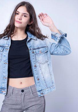 Jaqueta-Jeans-Vies-Laranja-Neon