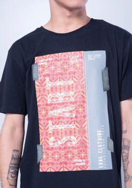 Camiseta-Manga-Curta-Comic-Etnica-Star-Fita-Isolante-Preta