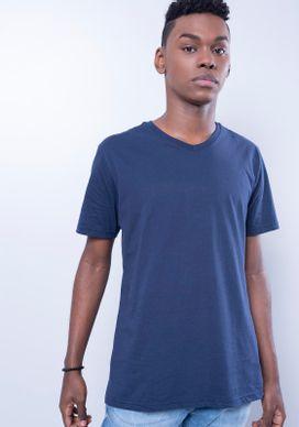 Camiseta-Basica-Gola-V-Azul-Marinho